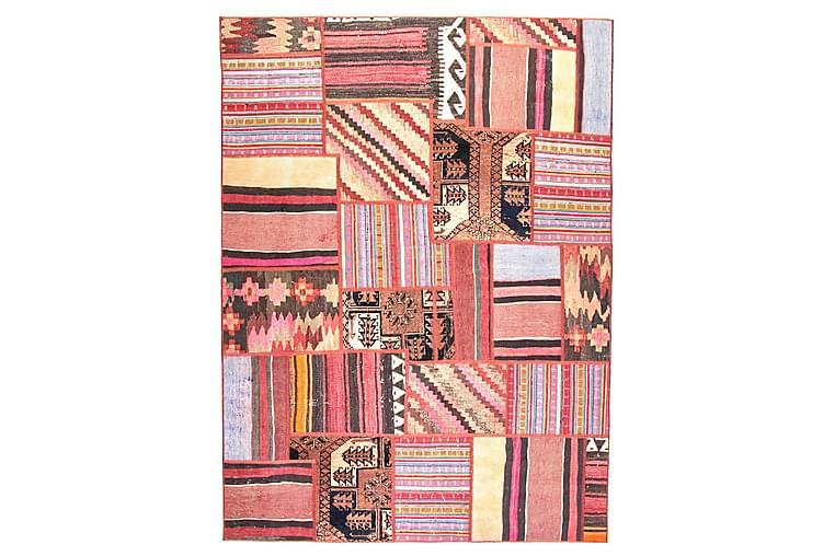 Handknuten Persisk Patchworkmatta 168x228 cm - Flerfärgad - Inredning - Mattor - Patchwork-matta