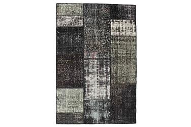 Patchworkmatta Black & White 121x183 Modern