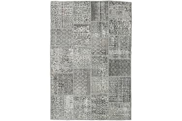 Patchworkmatta Black & White 139x204 Modern