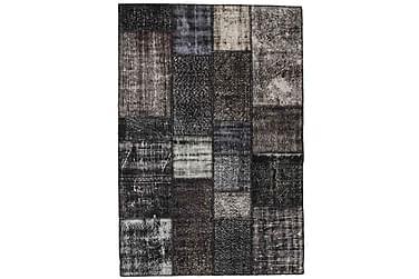 Patchworkmatta Black & White 141x206 Modern
