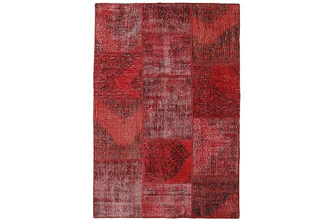 Patchworkmatta Black & White 156x231 Modern - Röd - Inredning - Mattor - Patchwork-matta