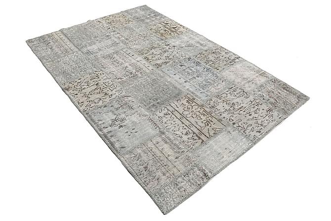 Patchworkmatta Black & White 157x230 Modern - Grå - Inredning - Mattor - Patchwork-matta