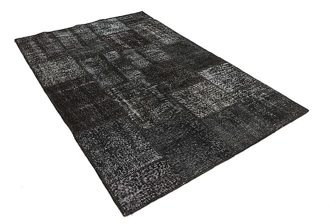 Patchworkmatta Black & White 157x234 Modern - Grå - Inredning - Mattor - Patchwork-matta