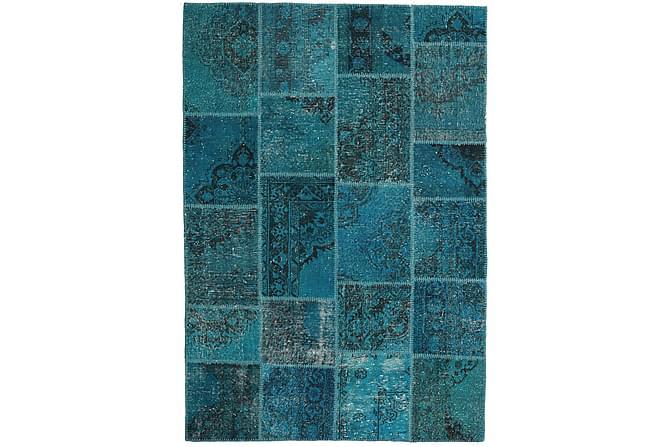 Patchworkmatta Black & White 159x230 Modern - Blå - Inredning - Mattor - Patchwork-matta