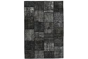 Patchworkmatta Black & White 160x232 Stor Modern