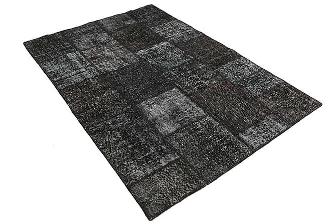 Patchworkmatta Black & White 160x232 Stor Modern - Grå - Inredning - Mattor - Patchwork-matta