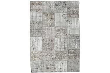 Patchworkmatta Black & White 160x233 Stor Modern