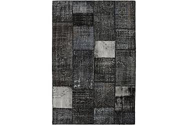 Patchworkmatta Black & White 160x237 Stor Modern