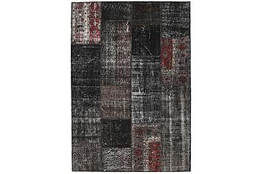Patchworkmatta Black & White 161x230 Stor Modern