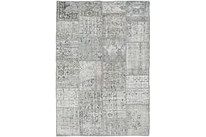 Patchworkmatta Black & White 161x231 Stor Modern
