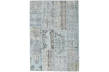 Patchworkmatta Black & White 161x234 Stor Modern