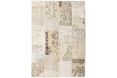 Patchworkmatta Black & White 162x228 Stor Modern