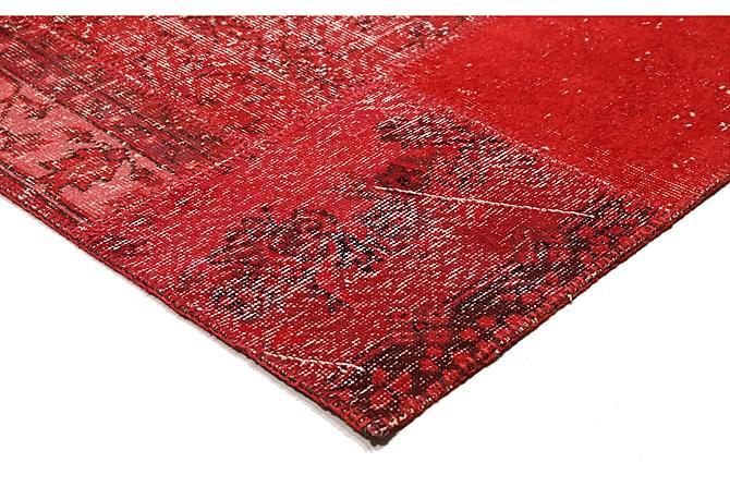 Patchworkmatta Black & White 162x230 Stor Modern - Röd - Inredning - Mattor - Patchwork-matta