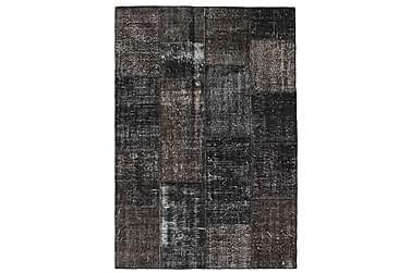 Patchworkmatta Black & White 162x234 Stor Modern