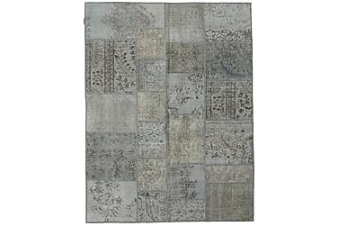 Patchworkmatta Black & White 171x231 Stor Modern