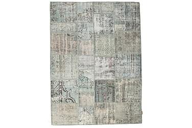 Patchworkmatta Black & White 172x231 Stor Modern
