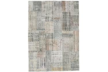 Patchworkmatta Black & White 174x242 Stor Modern