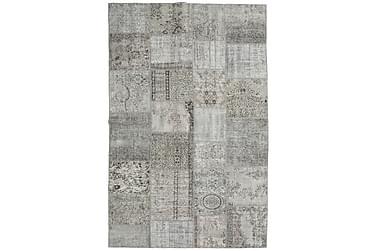 Patchworkmatta Black & White 195x301 Stor Modern