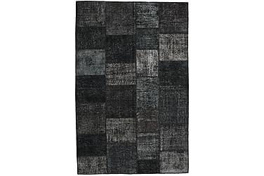 Patchworkmatta Black & White 197x301 Stor Modern
