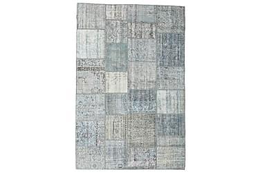 Patchworkmatta Black & White 198x298 Stor Modern