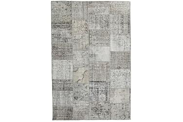 Patchworkmatta Black & White 198x300 Stor Modern