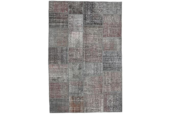 Patchworkmatta Black & White 198x300 Stor Modern - Grå - Inredning - Mattor - Patchwork-matta