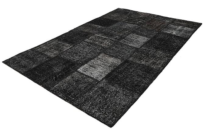 Patchworkmatta Black & White 198x301 Stor Modern - Grå - Inredning - Mattor - Patchwork-matta