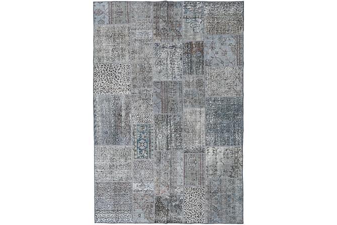 Patchworkmatta Black & White 200x300 Stor Modern - Grå - Inredning - Mattor - Patchwork-matta