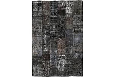Patchworkmatta Black & White 201x301 Stor Modern