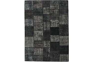 Patchworkmatta Black & White 251x350 Stor Modern