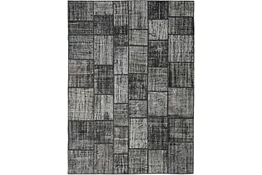 Patchworkmatta Black & White 252x348 Stor Modern
