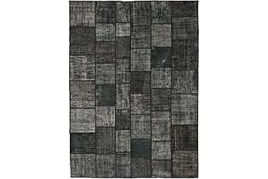 Patchworkmatta Black & White 252x350 Stor Modern