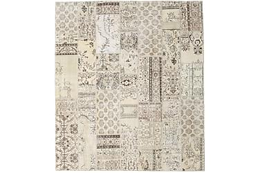 Patchworkmatta Black & White 253x288 Stor Modern