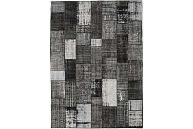 Patchworkmatta Black & White 253x350 Stor Modern