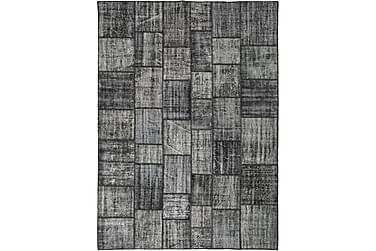 Patchworkmatta Black & White 254x352 Stor Modern