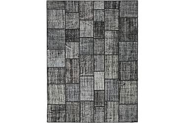 Patchworkmatta Black & White 255x345 Stor Modern