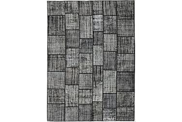 Patchworkmatta Black & White 255x352 Stor Modern