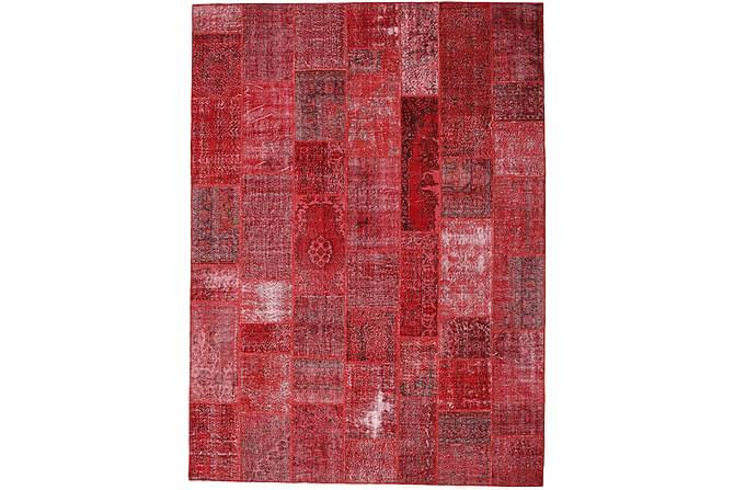 Patchworkmatta Black & White 272x370 Stor Modern - Röd - Inredning - Mattor - Patchwork-matta