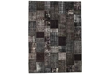 Patchworkmatta Black & White 273x367 Stor Modern