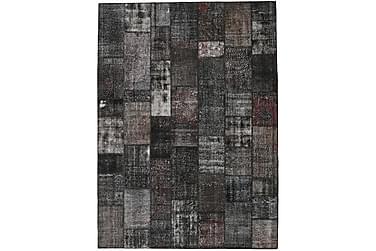 Patchworkmatta Black & White 273x374 Stor Modern