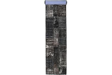 Patchworkmatta Black & White 80x498 Stor Modern