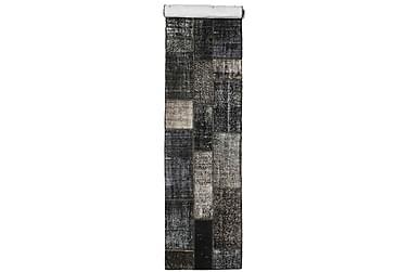 Patchworkmatta Black & White 81x402 Stor Modern
