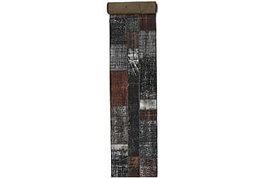 Patchworkmatta Black & White 81x600 Stor Modern