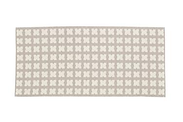 Plastmatta Cross 70x100 Vändbar PVC Beige