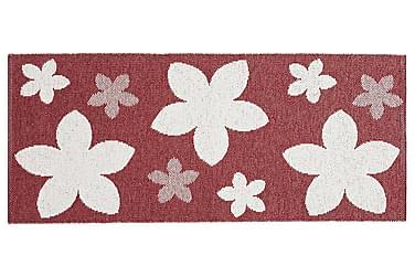 Plastmatta Flower 70x100 Vändbar PVC Röd