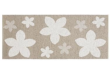 Plastmatta Flower 70x150 Vändbar PVC Beige