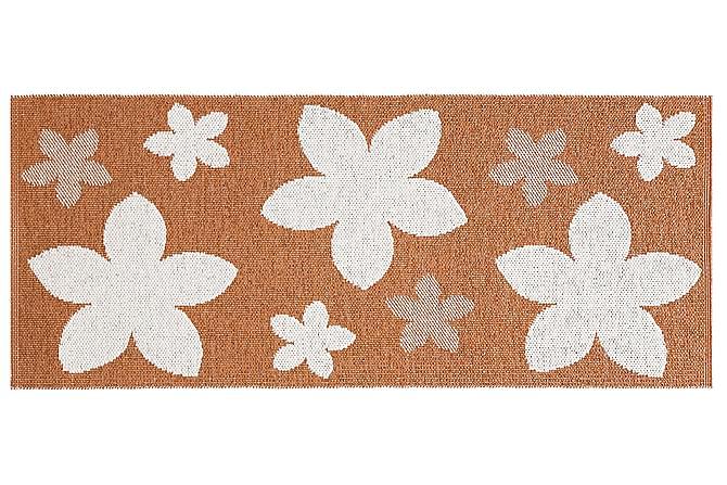Plastmatta Flower 70x150 Vändbar PVC Rost - Horredsmattan - Inredning - Mattor - Plastmattor