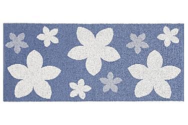 Plastmatta Flower 70x350 Vändbar PVC Blå