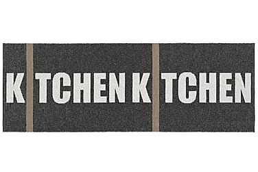 Plastmatta Kitchen 70x100 Vändbar PVC Svart