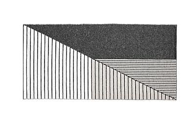 Plastmatta Stripe 150x210 Vändbar PVC Svart/Rosa